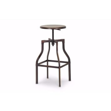 Architect's Industrial Bar Stool in Antiqued Copper By Baxton Studio