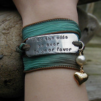The Hunger Games Bracelet Wrap May The Odds Be by theforksforest