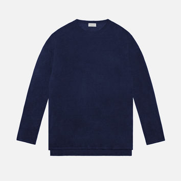Linen Mercer Sweater / Navy