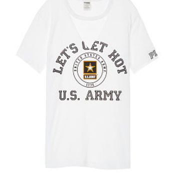 Army Cutout Campus Tee - PINK - Victoria's Secret