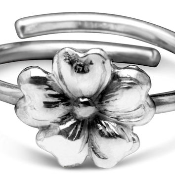 Sterling Silver and Gold Vermeille Molly Silver Spoon Ring