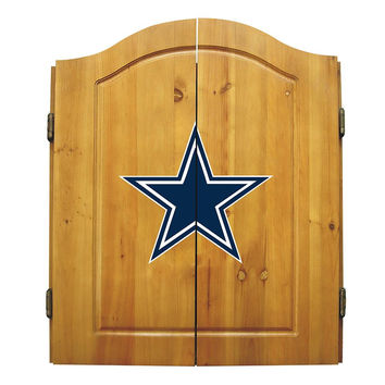 Dallas Cowboys NFL Dart Board w-Cabinet