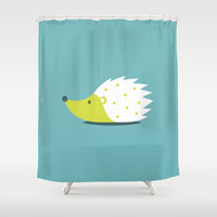 HEDGEHOG Shower Curtain by vaughn shim | Society6
