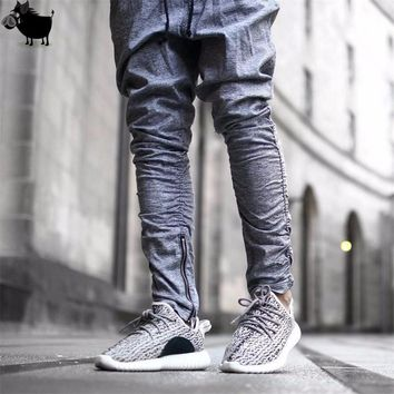 Man Si Tun 2017 Sweatpants Justin Bieber Kanye  Fear of God Trousers Mens Joggers Jumpsuit Urban Clothing Casual Harem Men Pants