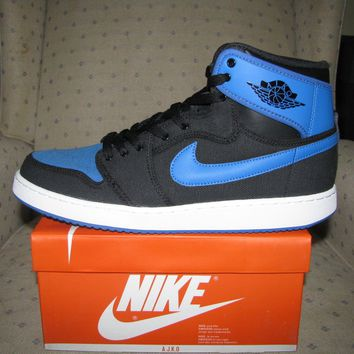 NIKE AIR JORDAN RETRO 1 HIGH OG AJKO BLACK SPORT BLUE Bred george hare bunny chi