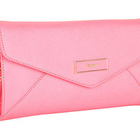 DKNY Saffiano Leather Large Envelope Clutch