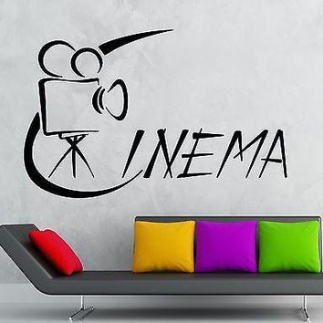Wall Sticker Vinyl Decal Hollywood Cinema Movie Camera Film Unique Gift (ig2115)