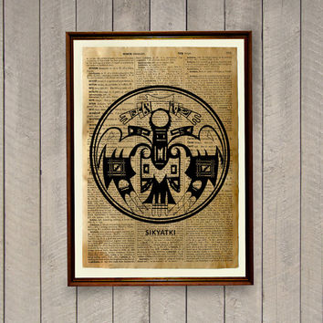 Rustic decor Native American poster Tribal print