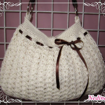 Wadded Crochet Bag  FREE shipping