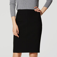 Curvy Seamed Stretch Pencil Skirt | LOFT