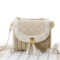 Summer Fashion Woven Beach Bag [6580741767]