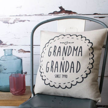 'Grandma And Grandad' Cushion Cover