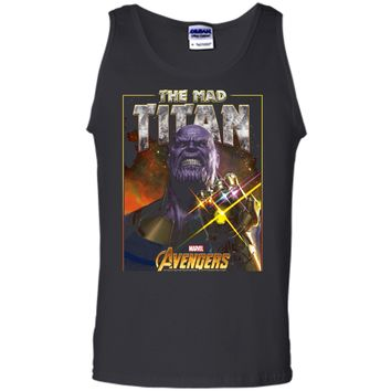 Marvel Infinity War Thanos Mad Titan Bling Graphic  Tank Top