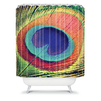Deny Designs Shannon Clark The Eye Fabric Shower Curtain (Blue)