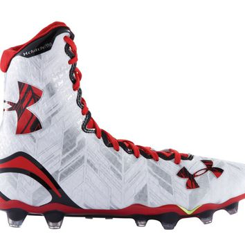 Under Armour Highlight Lacrosse Cleats 2016 - White/Red | Lacrosse Unlimited