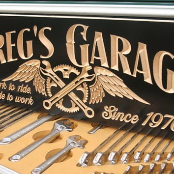 Man Cave Sign: Custom Engraved Motorcycle Sign  Live to Ride Sign Garage Sign Last Name Sign Custom Business Sign Pub Sign 9x23 SG