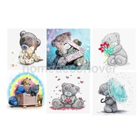 Lovely Cartoon Bears 5D DIY Diamond Painting Rhinestone Cross Stitch Kit Paint By Number Kits Art Crafts for Kids Children
