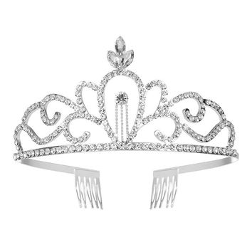 Elegant Bridal Crystal Rhinestone Tiara Crown Wedding Party Birthday Princess Tiara Headband