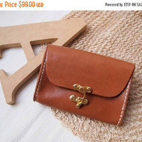 ON SALE 30% OFF Personalized Wallet / Purse - Leather - Harlex Hand Stitched