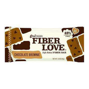 Nugo Nutrition Bar - Fiber Dlish - Chocolate Brownie - 1.6 Oz Bars - Case Of 16