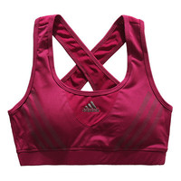 Trendsetter Adidas Casual Gym Sport Yoga Embroidery Crisscross Print Vest Tank Top Cami