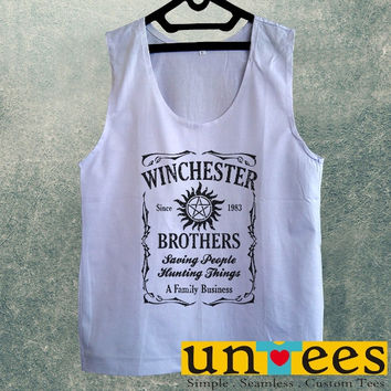 Men's Basic Tank Top - Supernatural The Winchesters Brothers Design