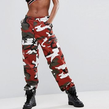 Reclaimed Vintage Inspired Festival Camo Pants at asos.com