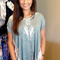 Hazel Tonal Embroidered Knit Top