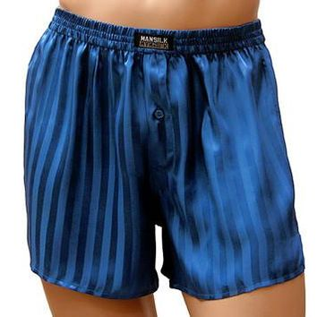 Boxer Shorts - Silk Jacquard Striped (Small)