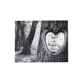 Personalized Gift Tree of Love Photo Graphic Print on Canvas