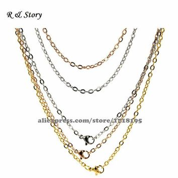Stainless Steel Chain..Great for attaching your glass pendant, memory locket, dangle charms, crystals and pendant trays LFH_032