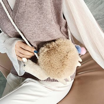 Cute Plush Alpaca Bag