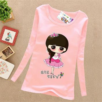 Spring Autumn Cotton Children T Shirts Long Sleeve Quality Baby Tops Tee Casual Pullover Kids Clothes Infantil Cute Girl T-Shirt