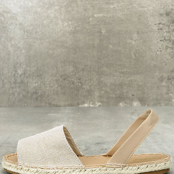 Oceanic Natural Espadrille Sandals