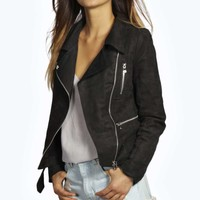 Boutique Evie Suedette Biker Jacket