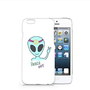 Queen Alien Peace Out Iphone 6 case, Iphone 6 Case Plastic Hard White Cover Skin Case (4.7'' Screen)-Quindyshop