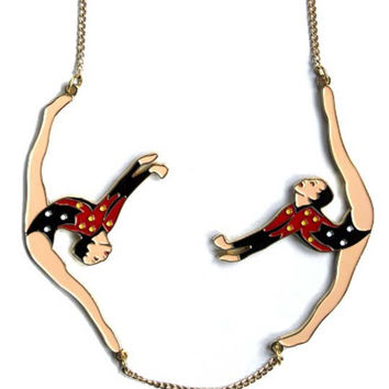 Karen Mabon Circus Gymnast Necklace