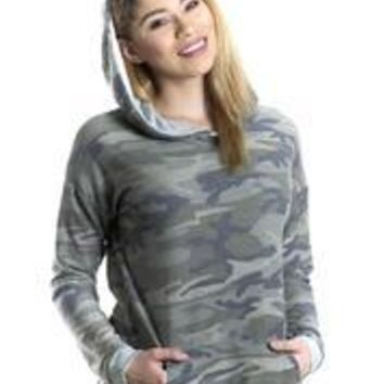 Camo Hoodie Made In America - Olive - S