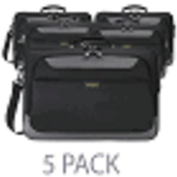 "(5-Pack) Targus TCG058 CityGear II Clamshell Polyester Laptop Case w/DOME Shock Dispersion - Fits 15.6"" (Black/Gray)"