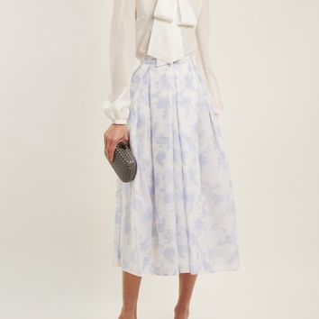 Elena floral-jacquard organza skirt | Erdem | MATCHESFASHION.COM UK