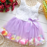 Gorgeous White and Purple Dress! 12 Months and 2T.