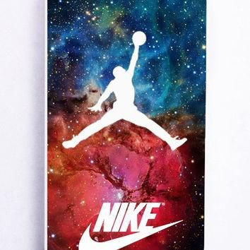 iPhone 5 Case - Hard (PC) Cover with nike logo nebula air jordan Plastic Case Design