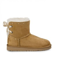 Dixie Flora Perf Sheepskin Lined Bootie