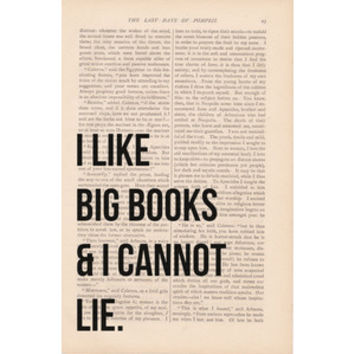 dictionary art vintage I Like BIG BOOKS and I Cannot LIE print - vintage art book page print - black friday cyber monday free shipping etsy ($9.00) - Svpply