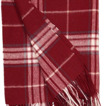 Rocky Mountain Plaid Throw in Claret