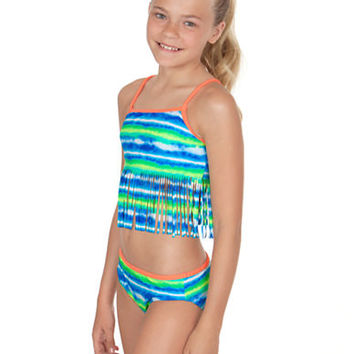 Gossip Girl Girls 7-16 Sunkissed Fringe Tankini