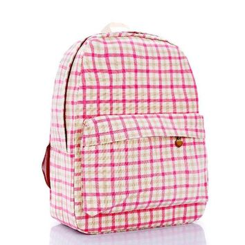 LMFUG3 Vintage Plaid Backpack = 4887997700
