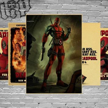 Deadpool Dead pool Taco  / classic movie poster / kraft paper Decorative Painting Wall Stickers For Living Room Classic Film Poster AT_70_6