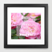 SMILE :) Framed Art Print by cycreation