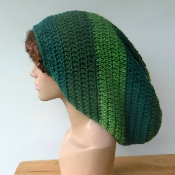 9efa60a4a08b9d Mint green Long Dread tam hat, dreadlocks hat, wide handmade dre. Dread tam  hat or very long slouchy beanie ...